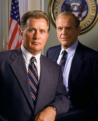 """Martin Sheen as President Josiah Bartlet and John Spencer as Chief of Staff Leo McGarry on NBC's """"The West Wing"""" West Wing"""
