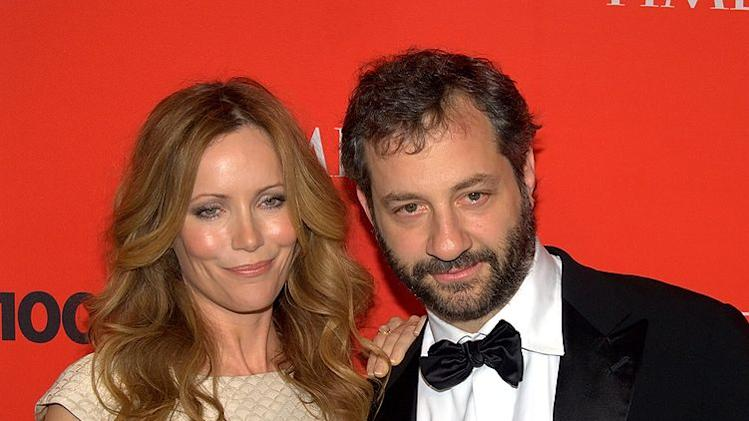 Leslie Mann and Judd Apatow are always a family affair.