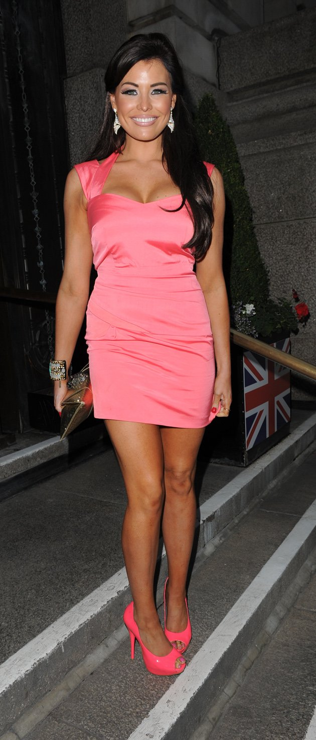 Jess Wright in a pink dress
