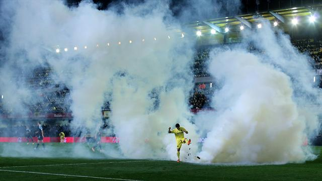 Liga - Villarreal escape with fine for tear gas incident