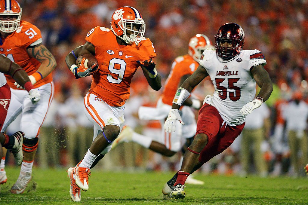 Wayne Gallman rushed for 34 touchdowns in three seasons at Clemson. (Getty Images)