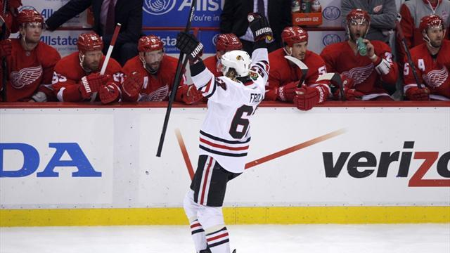 Ice Hockey - Blackhawks even series with Red Wings, force decider