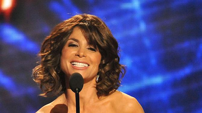 Presenter Paula Abdul onstage at the 2009 American Music Awards at Nokia Theatre L.A. Live on November 22, 2009 in Los Angeles, California.