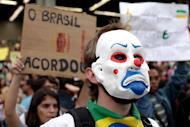 Hundreds of people take part in a demonstration against the $15 billion being spent on the Confederations Cup and the 2014 World Cup, on June 19, 2013, in Belo Horizonte, Brazil. Brazil's Congress has received a request from President Dilma Rousseff to hold a referendum on political reform in response to the worst social unrest in 20 years