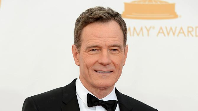 "FILE - This Sept. 22, 2013 file photo shows Bryan Cranston at the 65th Primetime Emmy Awards at Nokia Theatre in Los Angeles. Cranston will portray President Lyndon B. Johnson in his Broadway debut in ""All the Way."" He plays Johnson during his first year in office following the assassination of John F. Kennedy and explores both his fight for re-election and the passage of the Civil Rights Act of 1964. (Photo by Jordan Strauss/Invision/AP, File)"