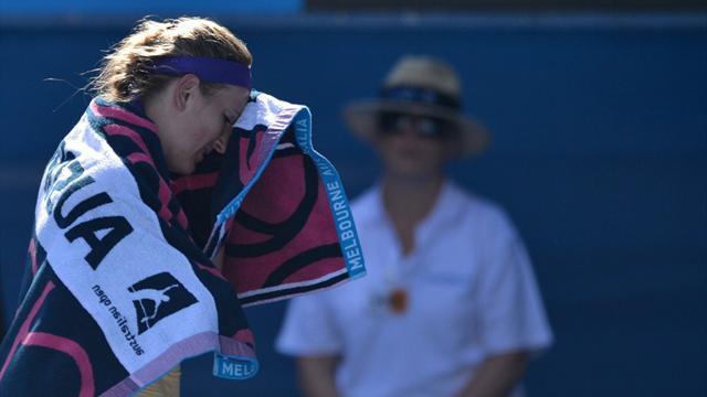 Australian Open - Azarenka limps past Stephens into final