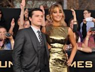 Josh Hutcherson and Jennifer Lawrence arrive at the premiere of 'The Hunger Games' at Nokia Theatre L.A. Live in Los Angeles on March 12, 2012 -- Getty Images