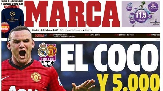 "Champions League - Fury at Spanish paper's ""Rooney a hooligan"" jibe"