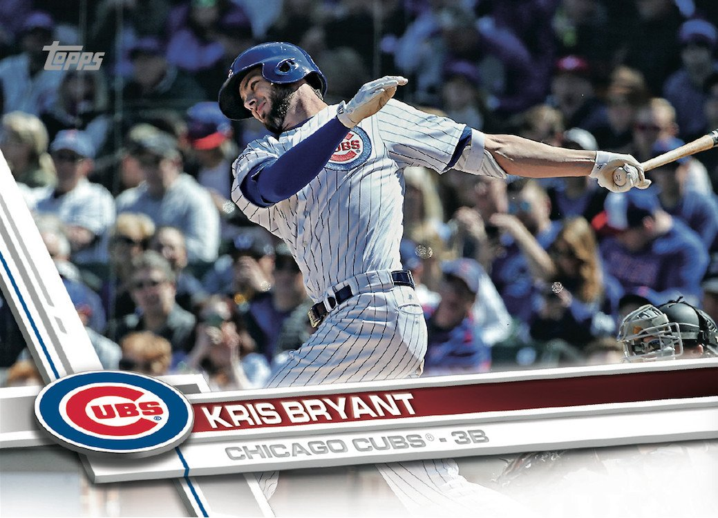 Kris Bryant is card No. 1 in Topps' 2017 set, which is quite an honor. (Topps)