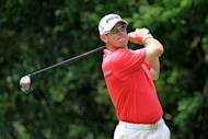 Lee Westwood of England at The Players Championship on May 12. Westwood is grouped with Ireland's Graeme McDowell and Thomas Bjorn from Denmark