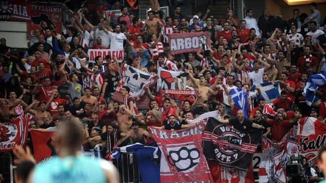Olympiakos Supporters AFP/Getty Images
