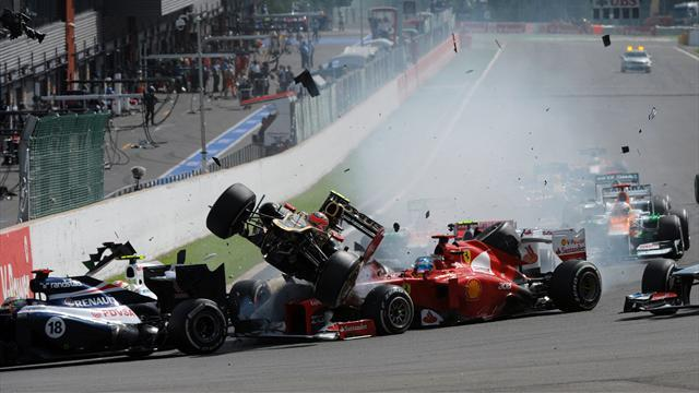 Hamilton and Alonso crash out