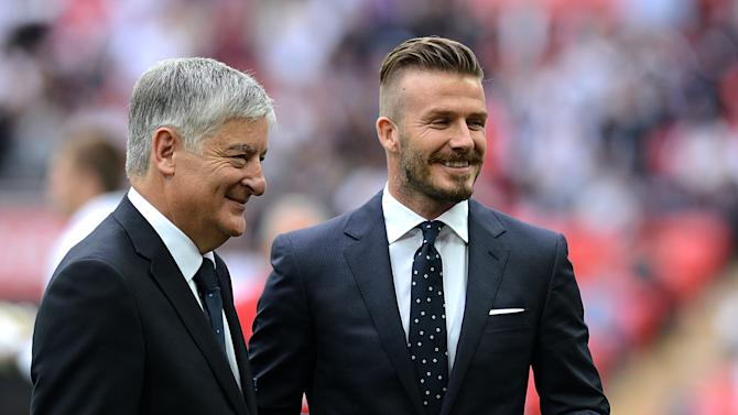 David Beckham (right)
