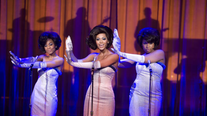 "FILE - In this undated file photo originally provided by Paramount Pictures, from left, Anika Noni Rose, Beyonce Knowles and Jennifer Hudson perform in ""Dreamgirls.""  (AP Photo/Paramount Pictures,David James, File)"