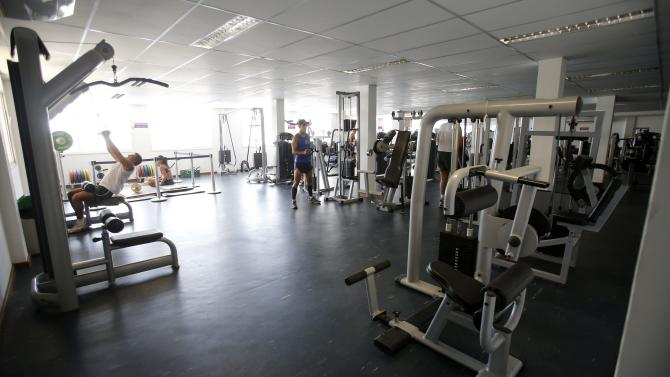 A view of the gym at the Brazilian Army Physical Training Centre in Rio de Janeiro