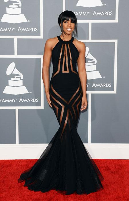Kelly Rowland arrives at the 55th Annual GRAMMY Awards at Staples Center on February 10, 2013 in Los Angeles, California. (Photo by Jason Merritt/Getty Images)