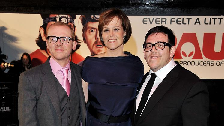 Paul UK premiere 2011 Simon Pegg Sigourney Weaver Nick Frost