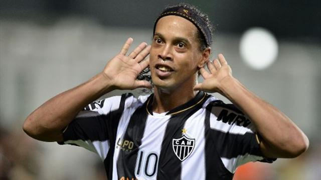 South American Football - Ronaldinho: We'll 'shed blood' to turn around cup tie