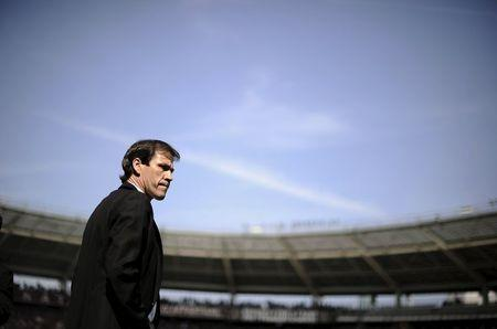 AS Roma's coach Rudy Garcia looks on during their Italian Serie A soccer match against Torino in Turin