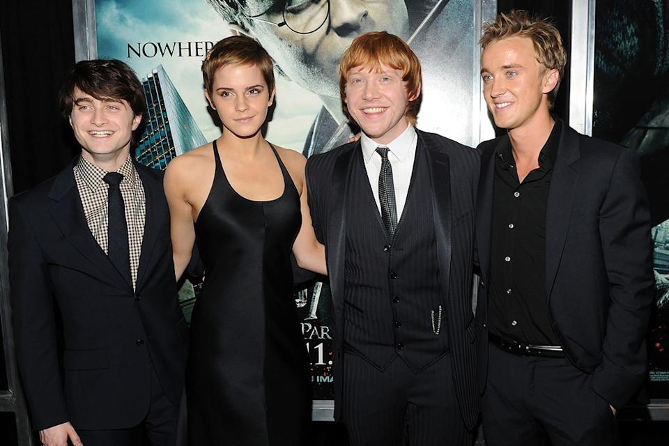 Harry Potter and the Deathly Hallows Pt 1 NYC premiere 2010 Daniel Radcliffe Emma Watson Rupert Grint Tom Felton