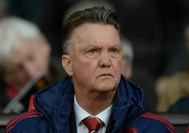 Manchester United's manager Louis van Gaal before an English Premier League match at Old Trafford on April 20, 2016