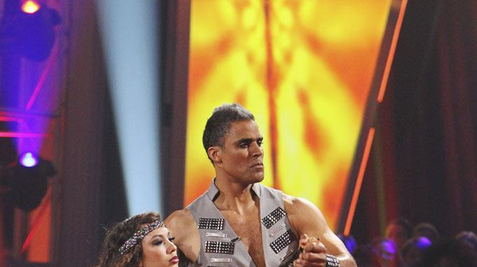 "Cheryl Burke and Rick Fox perform on ""Dancing with the Stars."""