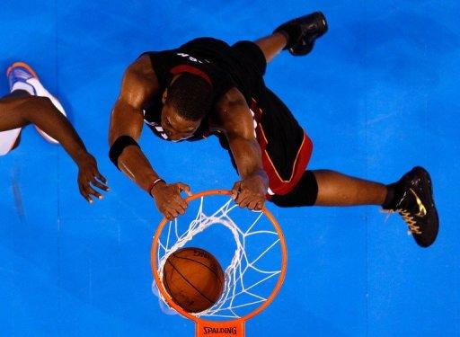 Chris Bosh found his scoring touch early and had a double double in the first half with 10 points and 10 rebounds