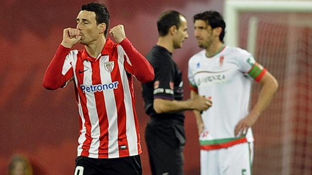 Liga - Aduriz stars as Athletic Bilbao crush Granada