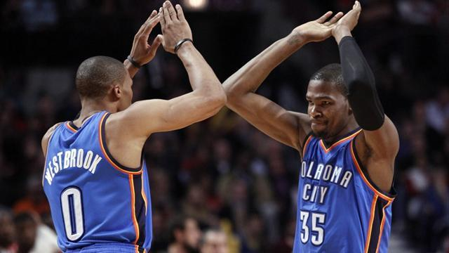 Basketball - Thunder let big lead slip but hold on to beat Blazers