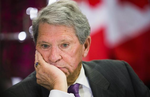 Hunter Harrison, CEO of Canadian Pacific Railway Limited, looks on before speaking to the economic community at a business luncheon in Toronto