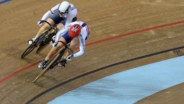Cycling - James wins women's sprint gold, Kenny flops