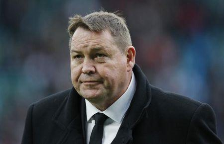 New Zealand's coach Hansen arrives for their international rugby union match against England at Twickenham in London