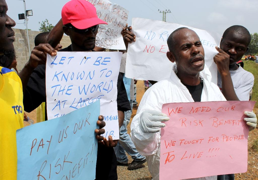 700 Liberian Ebola workers protest for hazard pay