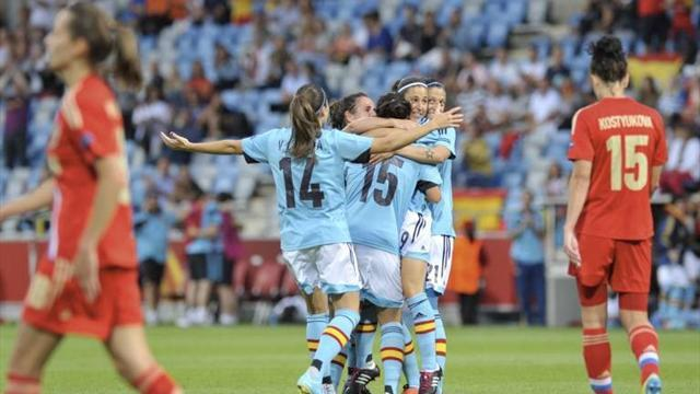 Women's Euro - Spain reach quarters as Denmark oust Russia on drawing of lots