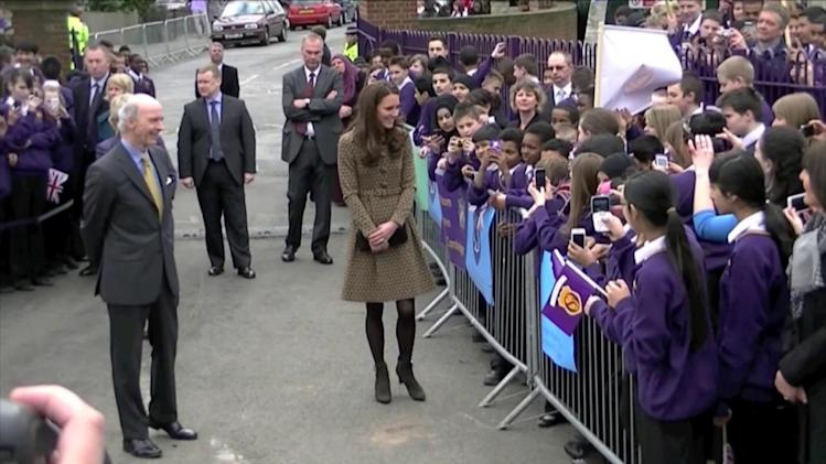 The Duchess of Cambridge Kate Middleton Spotted Browsing For Maternity Workout Clothes