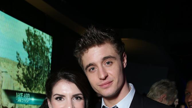 Author Stephenie Meyer and Max Irons at Open Road Films Los Angeles Premiere of 'The Host' held at the ArcLight Hollywood, on Tuesday, March, 19, 2013 in Los Angeles. (Photo by Eric Charbonneau/Invision for Open Road Films/AP Images)