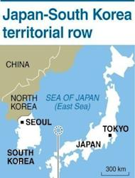 Map showing disputed islands claimed by both Japan and South Korea. South Korean President Lee Myung-Bak said his unprecedented visit to islands claimed by Japan was intended to press Tokyo to settle grievances left over from its colonial rule