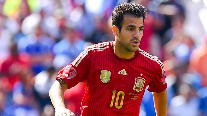 Euro 2016 - Fabregas out of Spain games