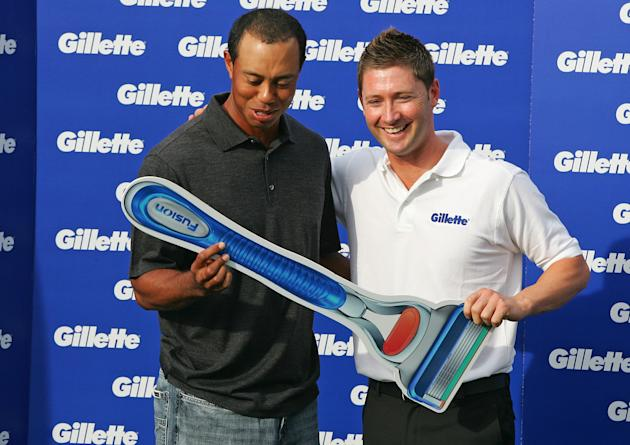 Tiger Woods And Michael Clarke Launch Gillette Education Grant