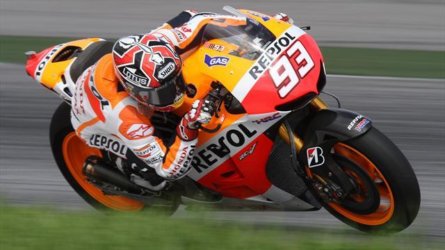 Motorcycling - Marquez sets stunning Indy pole pace