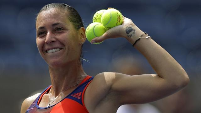 US Open - Pennetta holds nerve despite rain delay