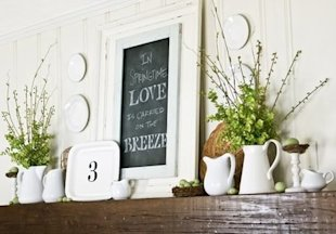 mantel white ceramics