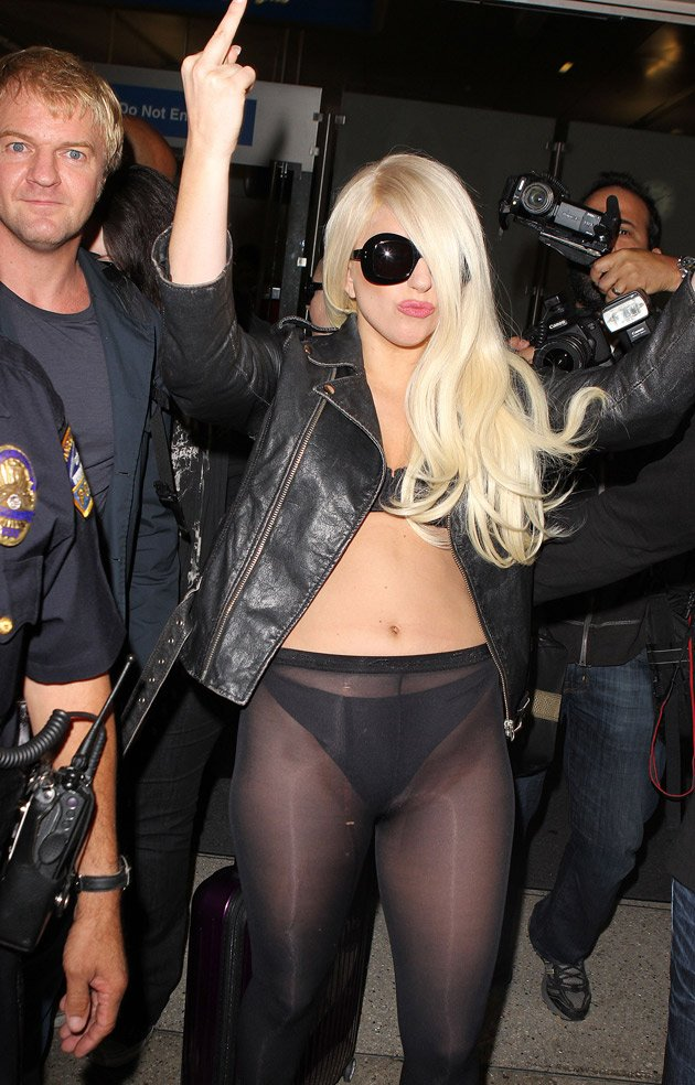 Lady Gaga, swearing, LAX