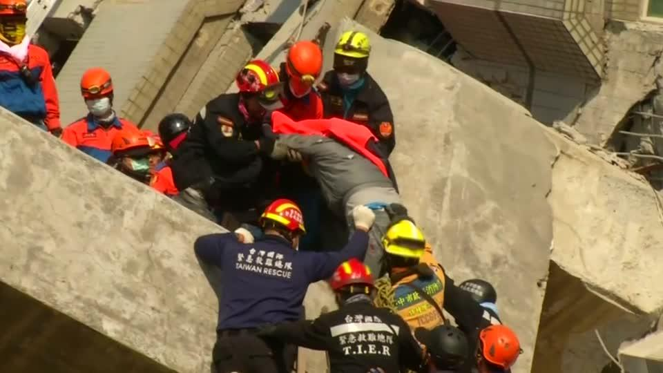 Scores still trapped in collapsed Taiwanese building Watch the video