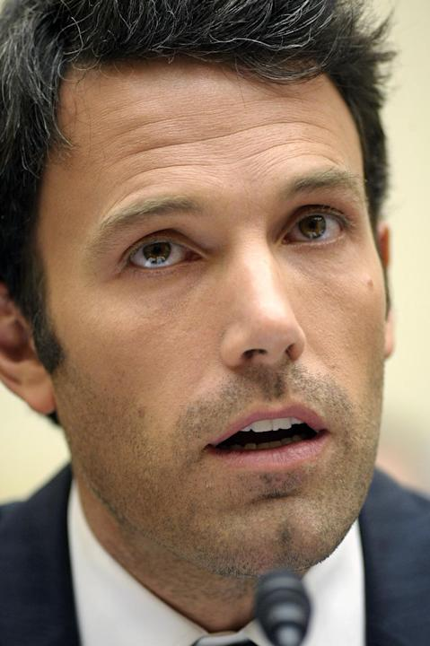 File-This March 8, 2011, file photo shows actor Ben Affleck testifying  before the House Foreign Affairs, Africa, Global Health, and Human Rights Subcommittee hearing in Washington.  Affleck requested