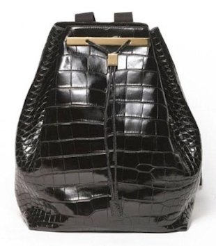 This backpack by The Row costs $39,000. Photo courtesy of Marie Claire.