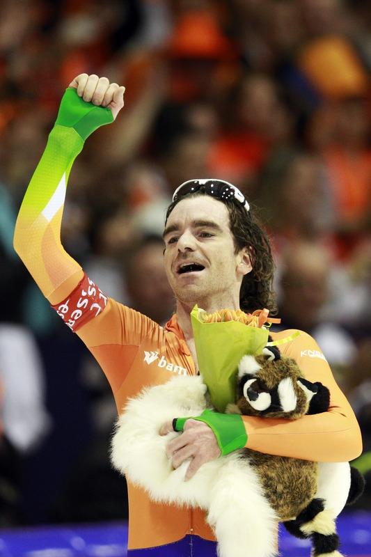 Bob De Jong Of The Netherlands Reacts AFP/Getty Images