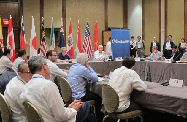 Trade ministers from 12 nations around the Pacific Rim meet at the Westin Maui in Lahaina, Hawaii,  Tuesday, July 28, 2015. The representatives are negotiating an agreement that would lower tariffs an