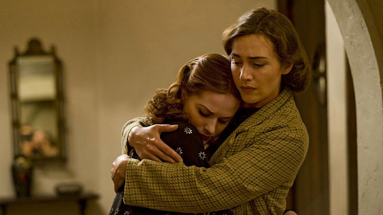 "Evan Rachel Wood as Veda and Kate Winslet as Mildred in ""Mildred Pierce."""