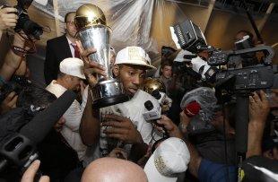 Kawhi Leonard became the Finals MVP in just his third NBA season. (AP)